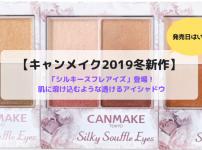 【キャンメイク】2019冬新作「シルキースフレアイズ」登場!透けるアイシャドウの発売日はいつ?