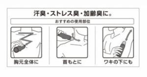 全身の汗のニオイや体臭をしっかり防ぐ
