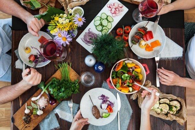 種類が豊富な食事