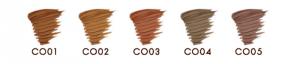 エクセルカラーオンアイブロウの5色のカラー